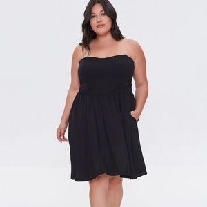 NWT Forever21+ black princess seam strapless, 3x